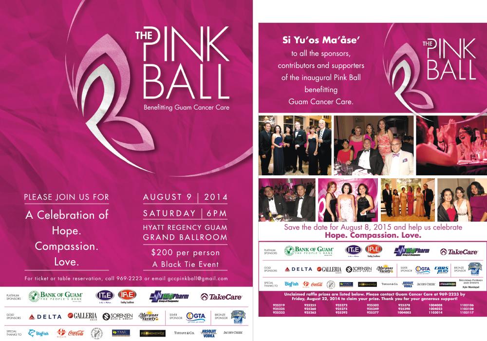 Pink Ball 2014 Ads