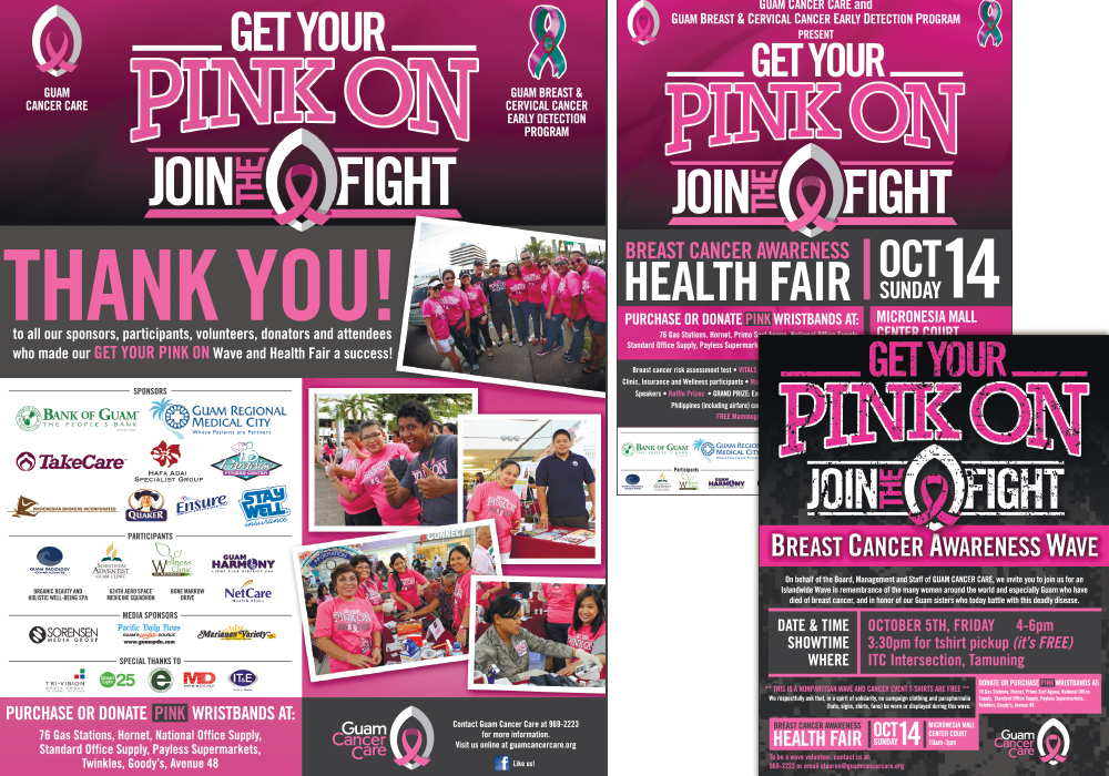 2012 Get Your Pink On Ads