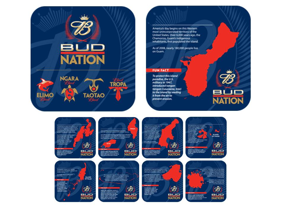 Bud Nation Coasters