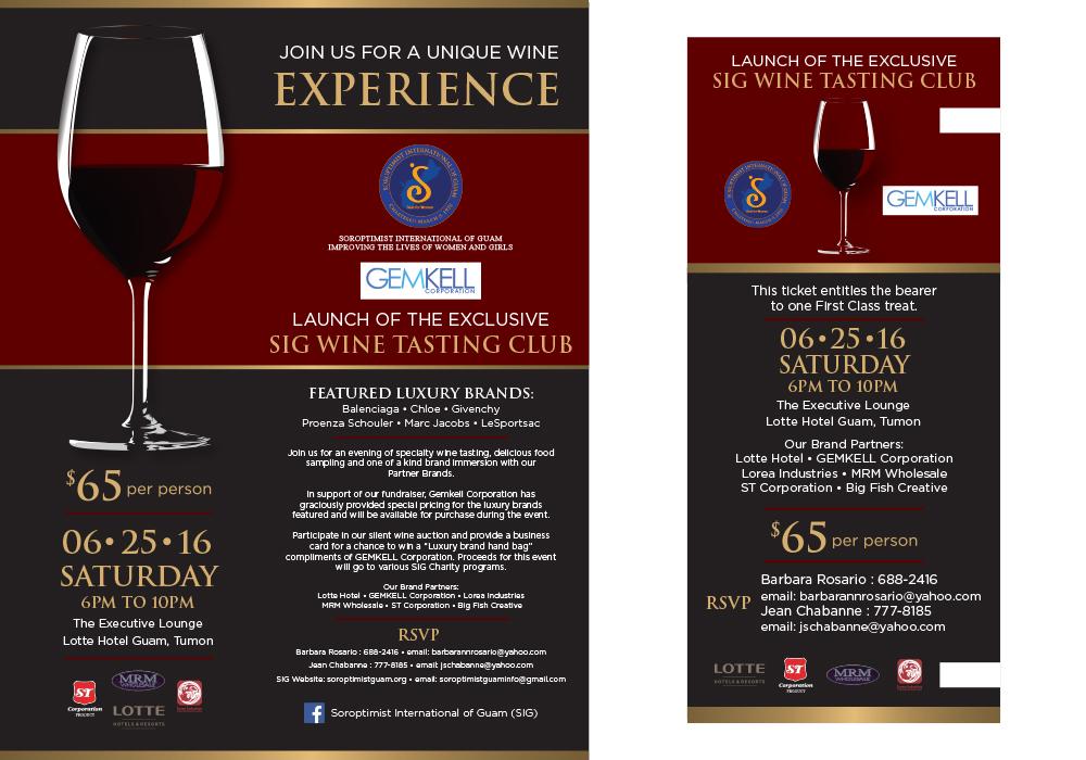 Soroptimist Wine Tasting Event