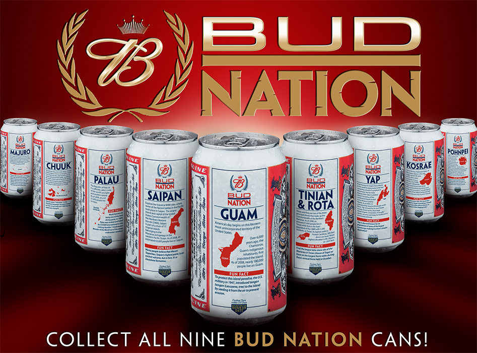 Bud Nation All Island Cans Poster