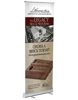 Legacy Brick Program Pop Up Banner