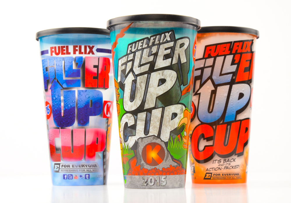 Fuel Flix Fill 'er Up Cups