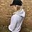 Thumbnail: DIY Queen Marl Grey Oversized Logo Hoodie