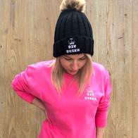 pink DIY Queen sweater