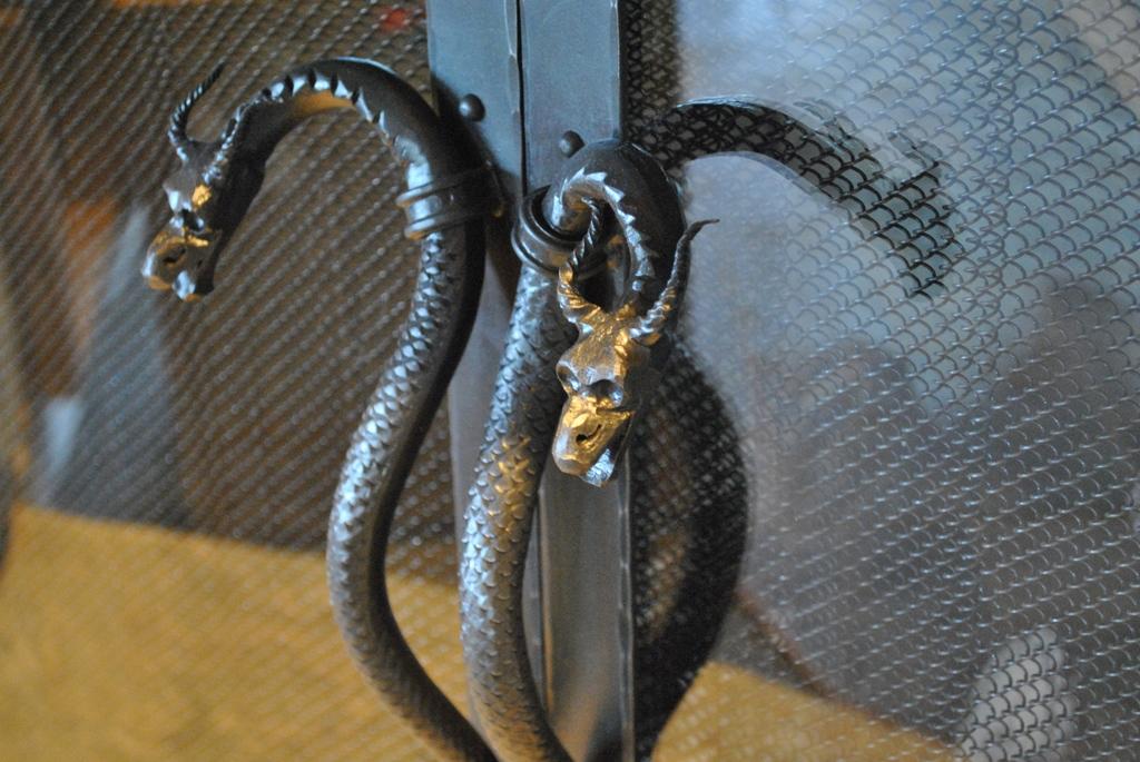 Custom Fireplace Handles