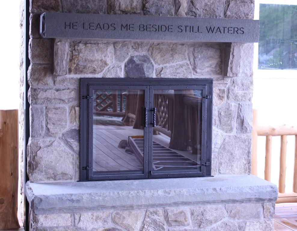 Exterior Fireplace Glass Doors