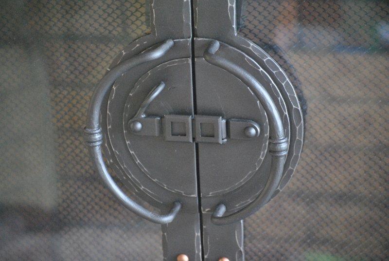 Custom Iron Fireplace Screen