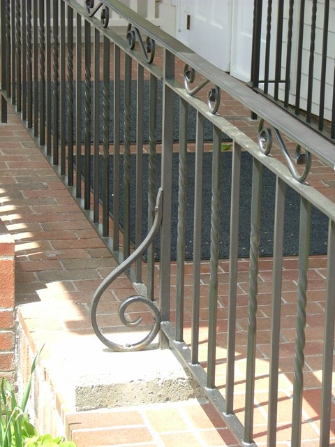 Custom Walkway Metal Railing