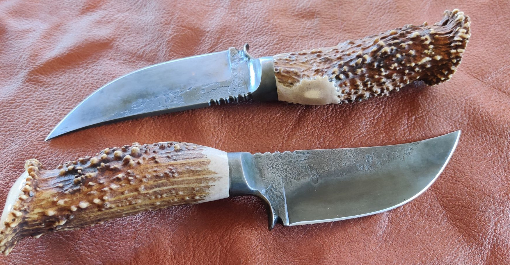 Hunting Knives with Antler Handles