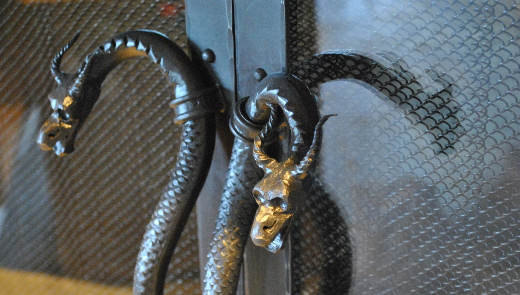 Forged Dragon Handles