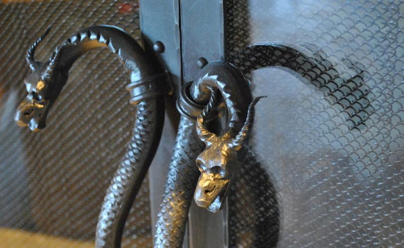 Forged Dragon Handles