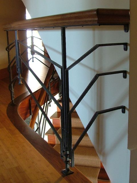 Custom Built Interior Railings | Morrell Metalsmiths