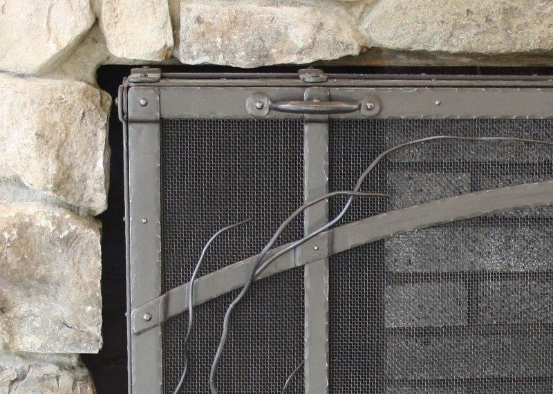 Custom metal Fireplace Door