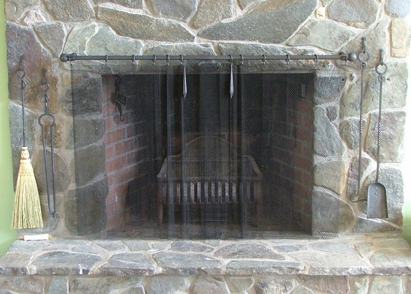 Custom metal Fire Place Screen