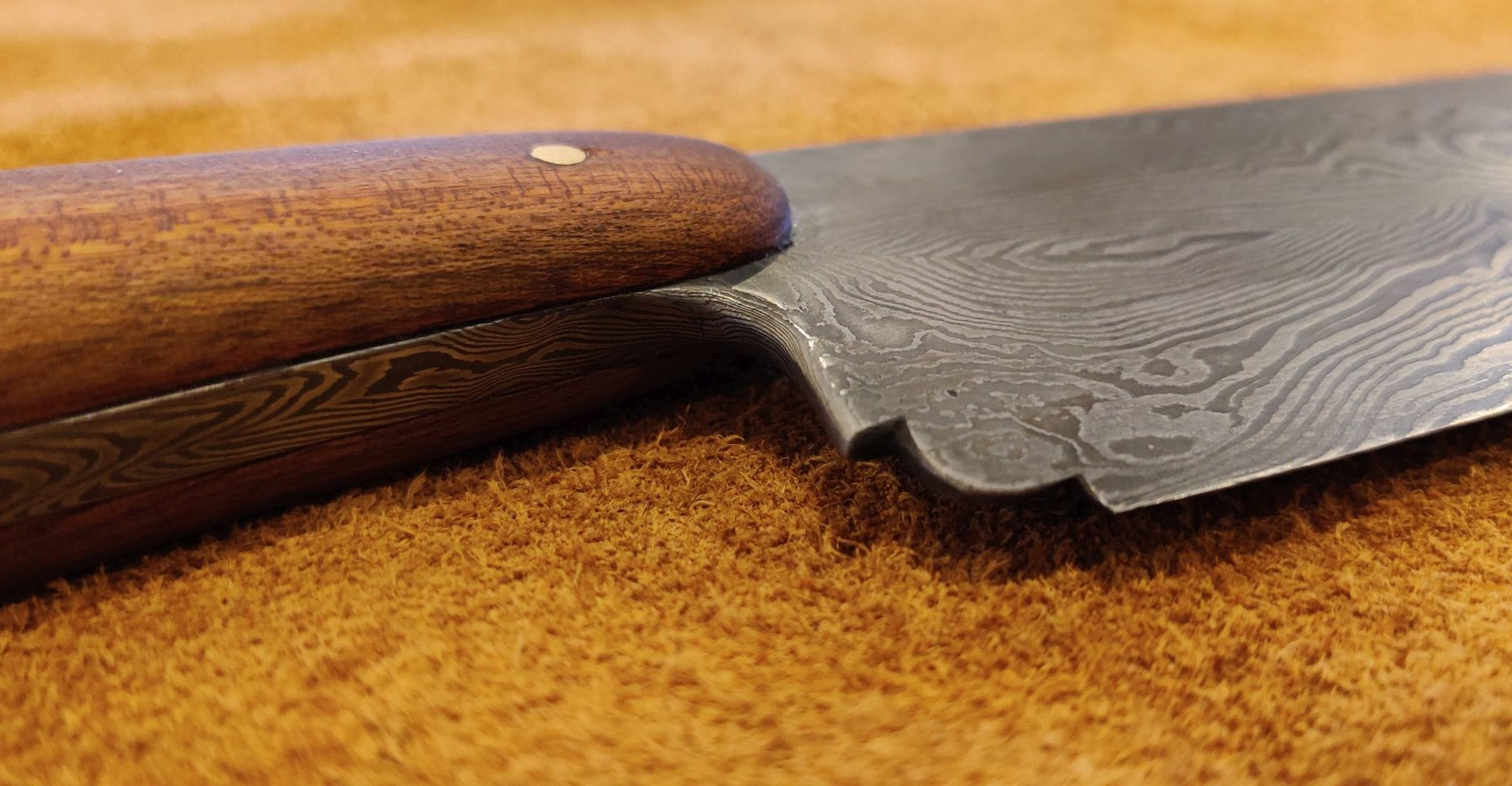 Kitchen Knife with Wood Handle