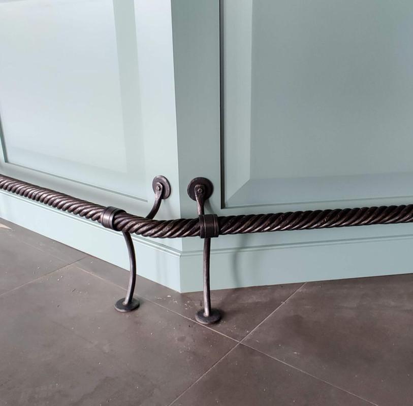 Iron Bar Foot Rail