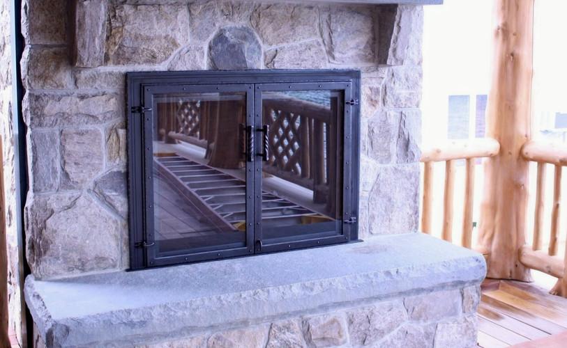 Custom Glass Fireplace Doors