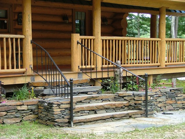 Custom Iron Exterior Railing
