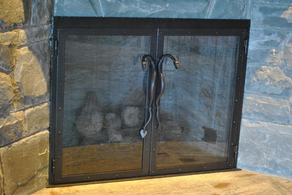 Glass Doors w/ Dragon Handles