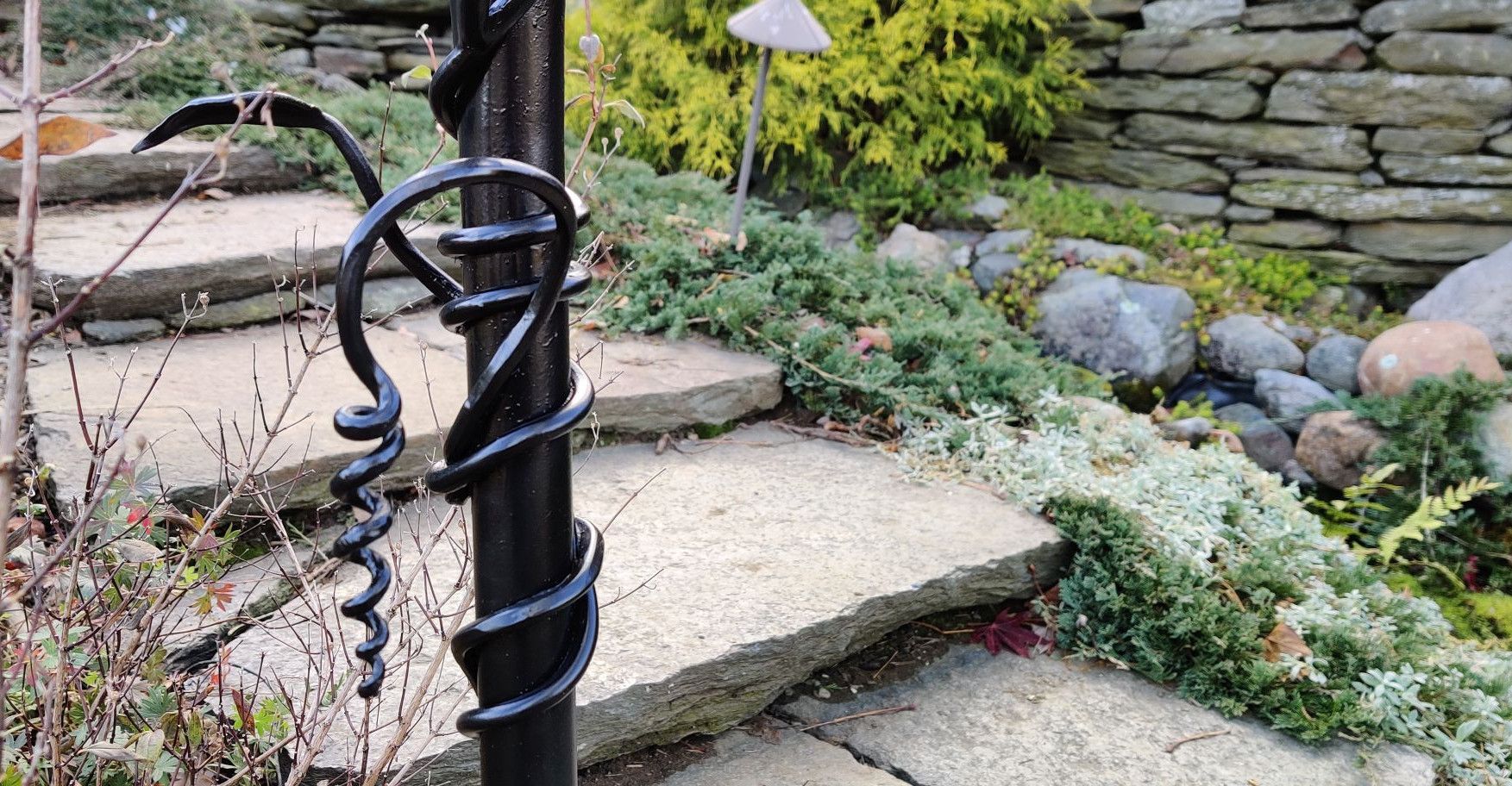 Railing with Leaves and Vine