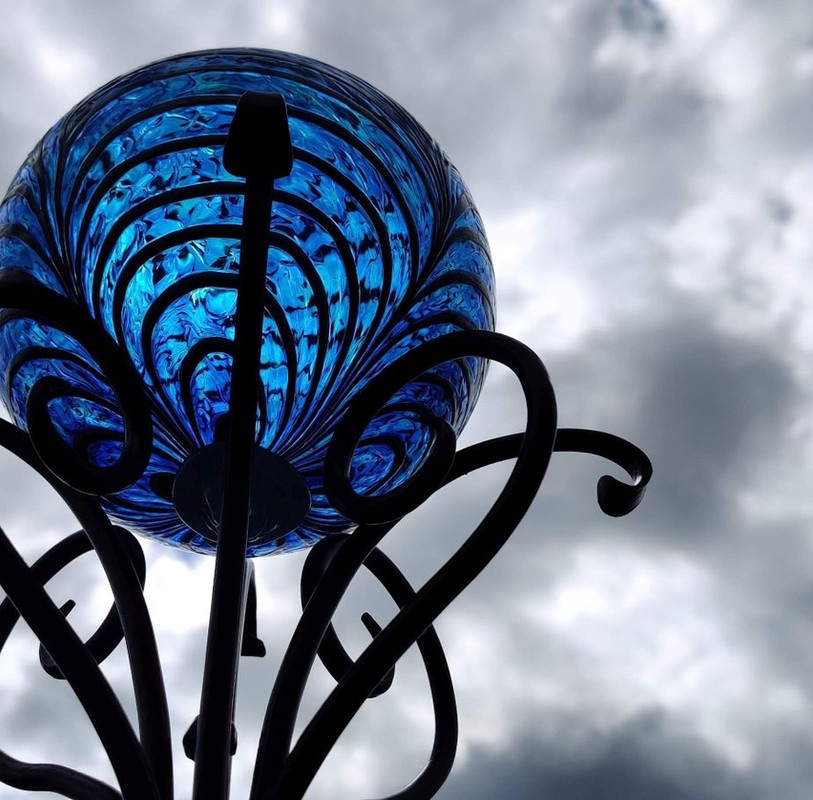 Iron and Glass Sculpture