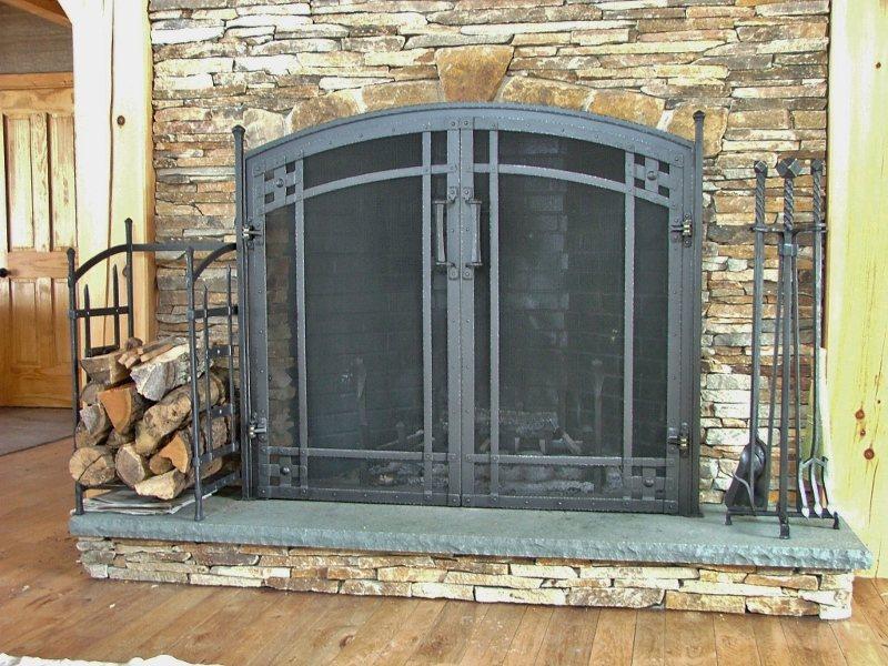 Custom Iron Fireplace