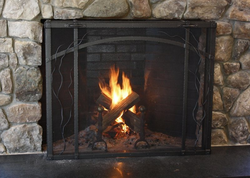 Custom Metal Fireplace Screen
