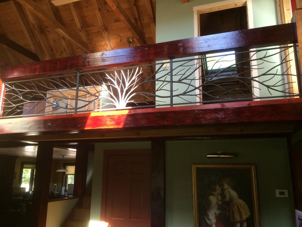 Treebranch infill for balcony rail