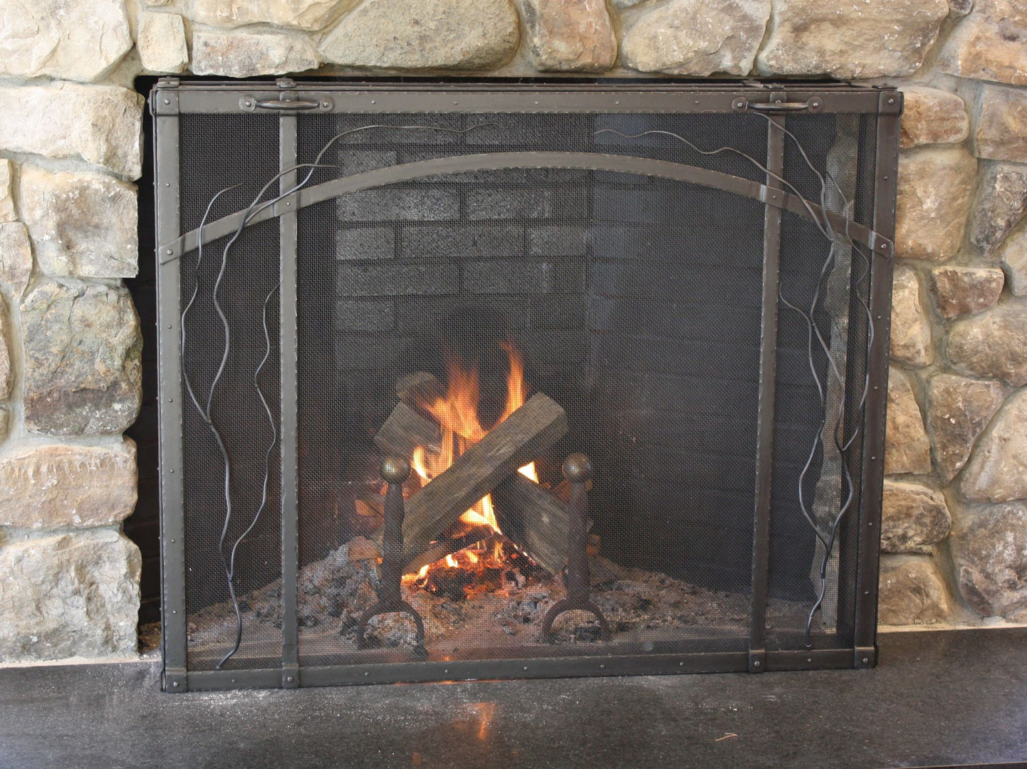 Free Standing Firescreen with Vine