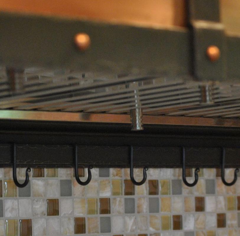 Steel Range Hood with Copper