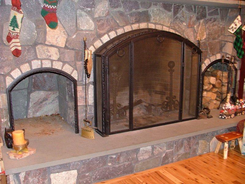 Custom Metal Fireplace Grate