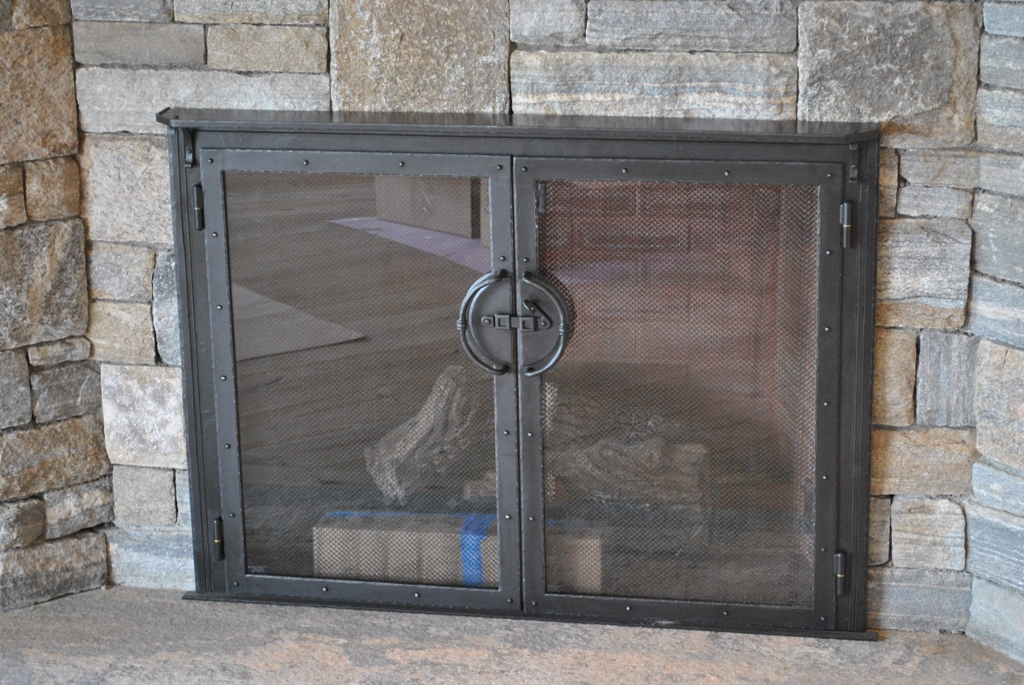 Fireplace Doors w Shelf
