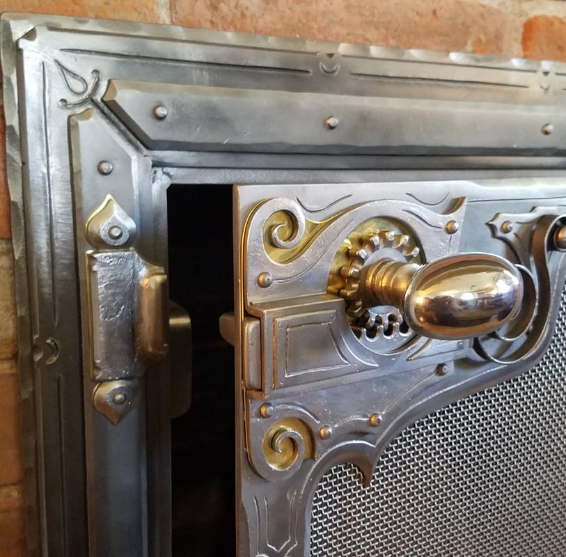 Latching Fireplace Door