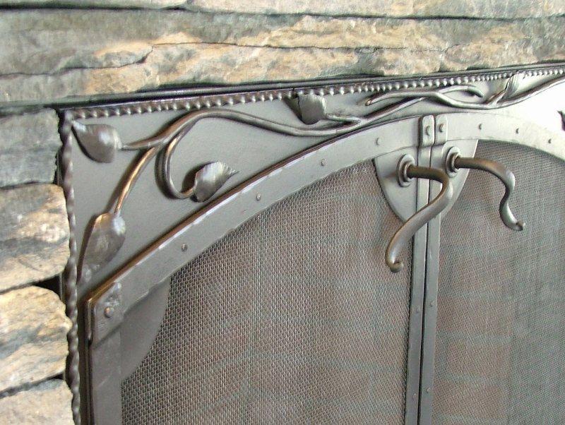 Custom Iron Fireplace Door