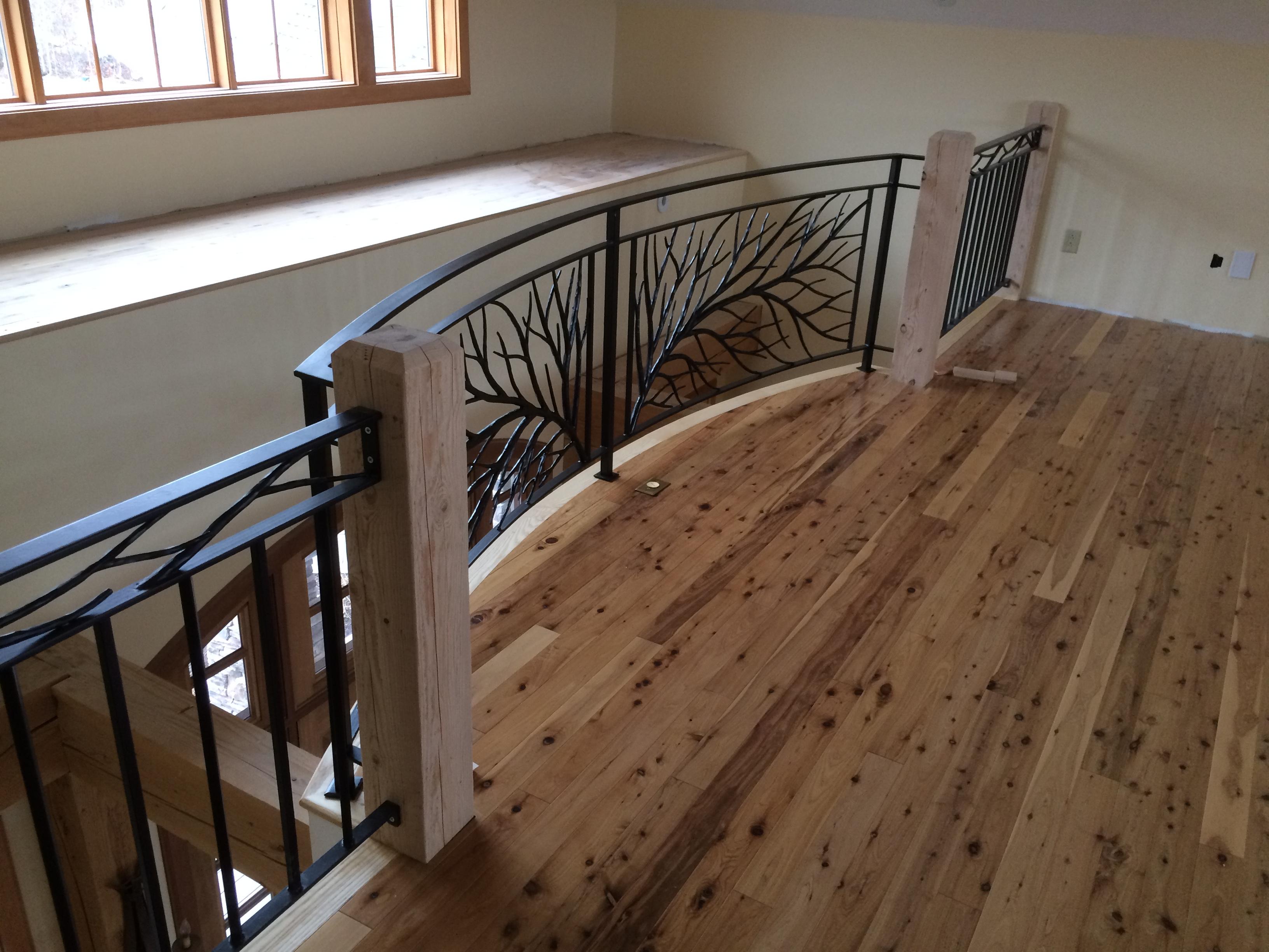 Back view of catwalk railing