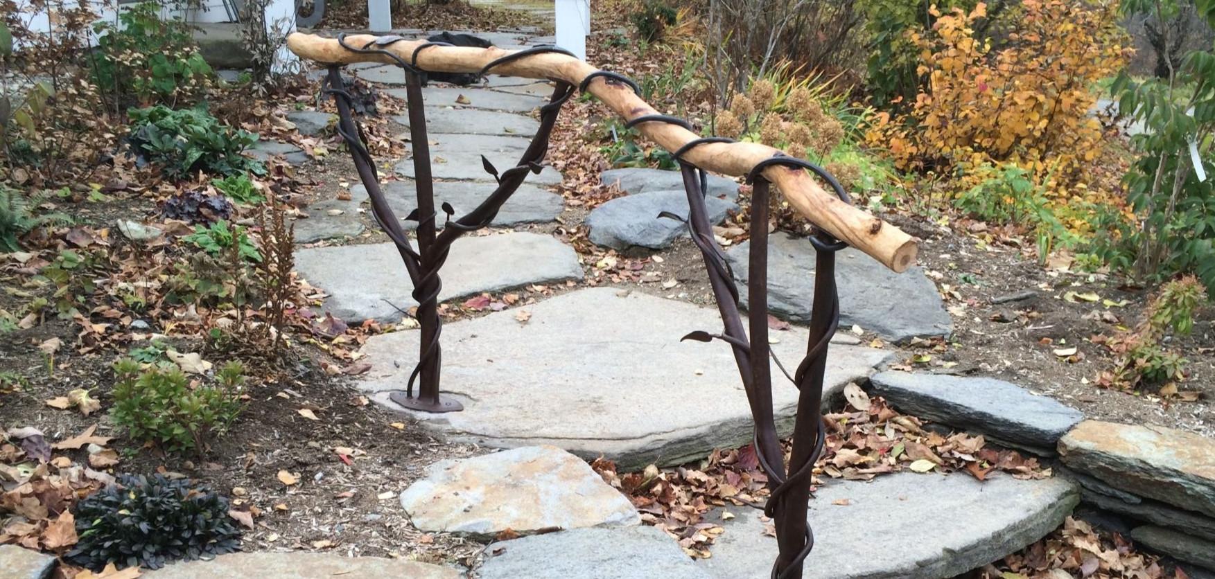 Custom Designed Railing With Wood