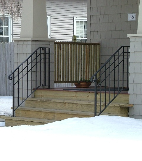 Custom Stairs Metal Railing
