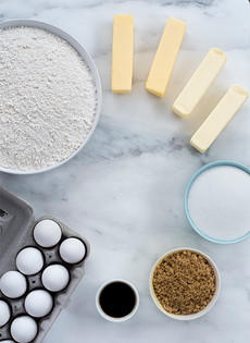 Ingredient Shot for French Cakes