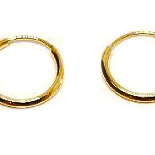 Pendientes oro 9x1,2mm , referencia OPEN1507