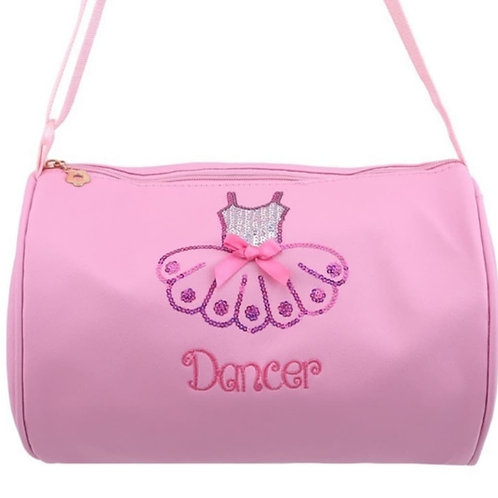 Cylindrical Dance Bag Pu Leather bag