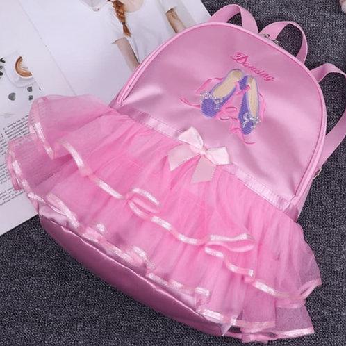Ruffled Tutu Dance Back Pack Bag Pink