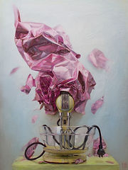 still life oil painting art mixer contemporary realism
