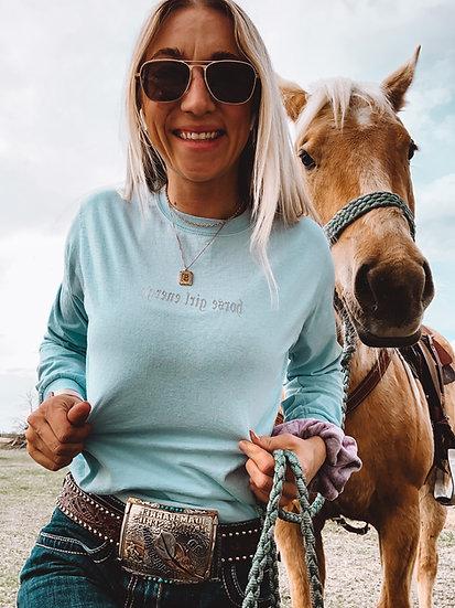 Horse Girl Energy - Long Sleeve Tee