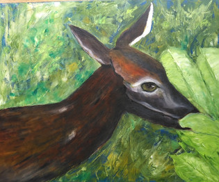 Lois Freese - Deer Munching.jpg