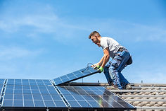 Installing solar photovoltaic panel syst