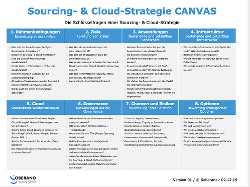 ePaper CANVAS Sourcing & Cloud Strategie