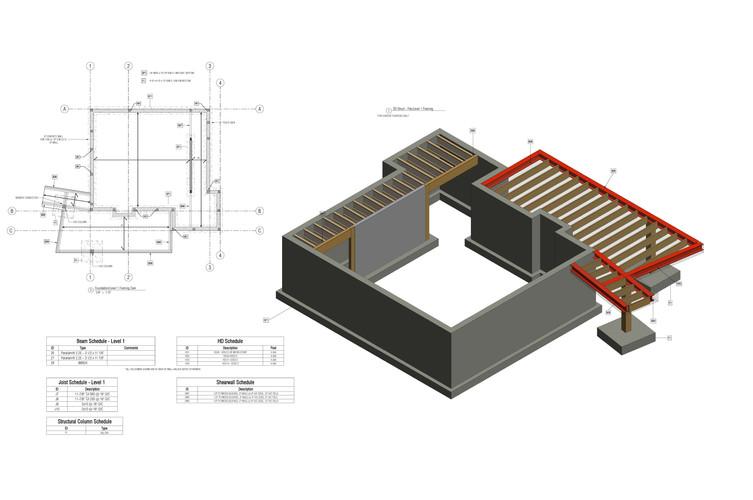 Structural - Floor Plans + 3D