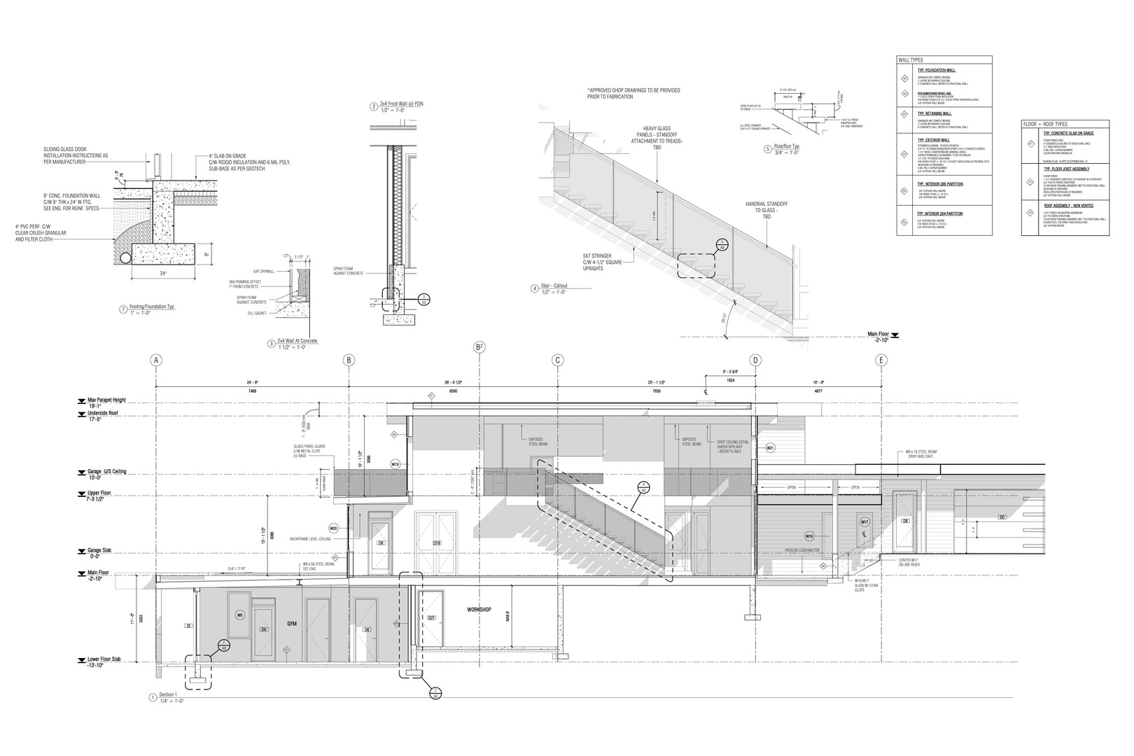 Architectural - Section + Details