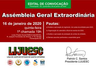 Assembléia Geral LIJUESC 2020